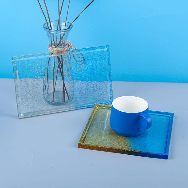Square and Rectangle Display Trays Resin Molds