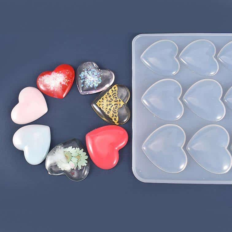 Heart Resin Mold - ResinsPal