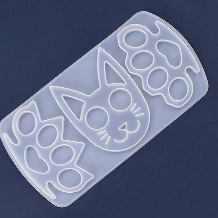 Self Defense Resin Mold Cat and Paw Shape