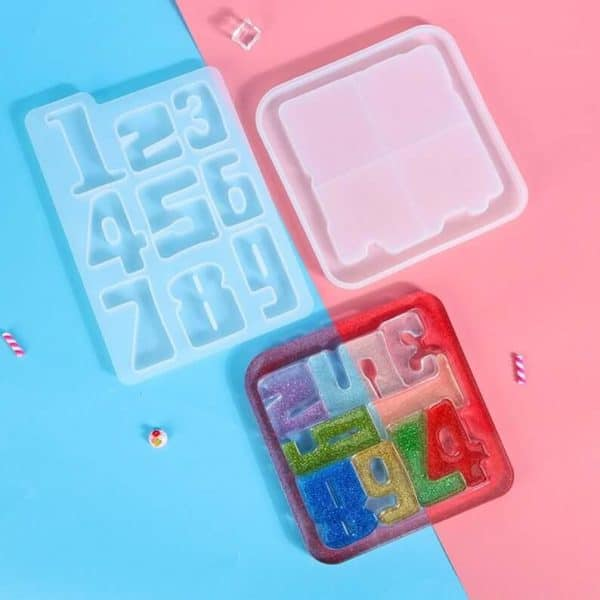 Silicone Number Puzzle Resin Molds