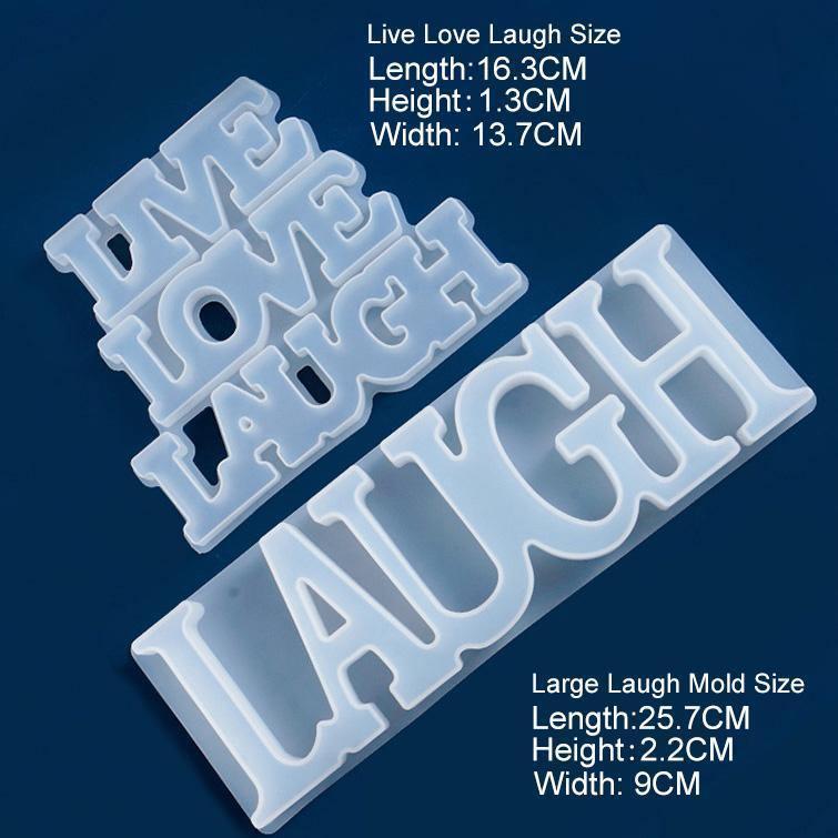 Alphabet Resin Molds, Laugh, Live Love Laugh - ResinsPal