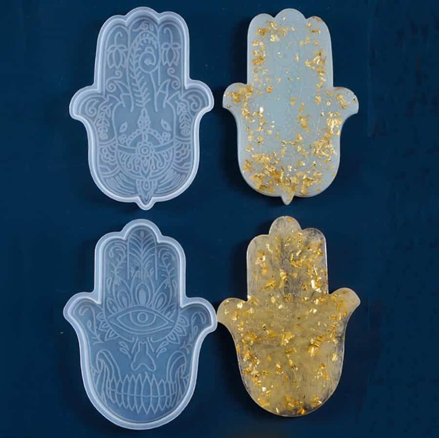Hamsa Hand Resin Coaster Mold - ResinsPal