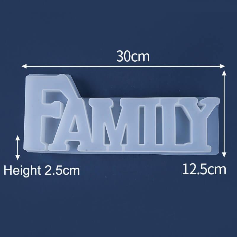 Word Resin Mold Family