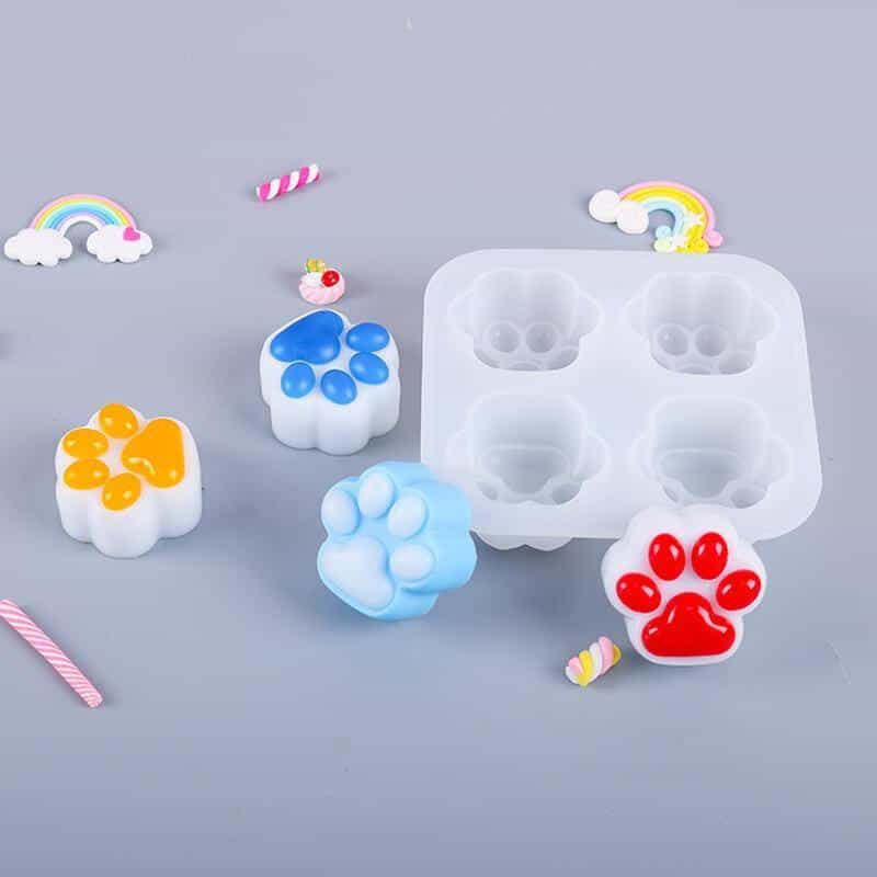 Silicone Paw Resin Molds