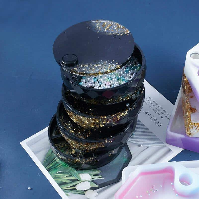 Round Silicone Resin Jewelry Box Mold