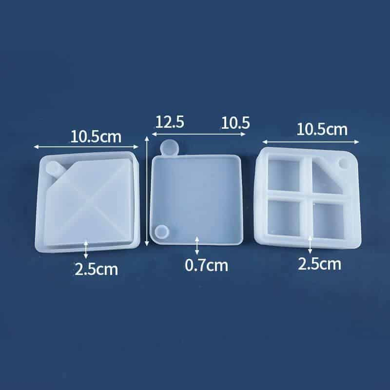 Resin Mold for Jewelry Storage Box Square